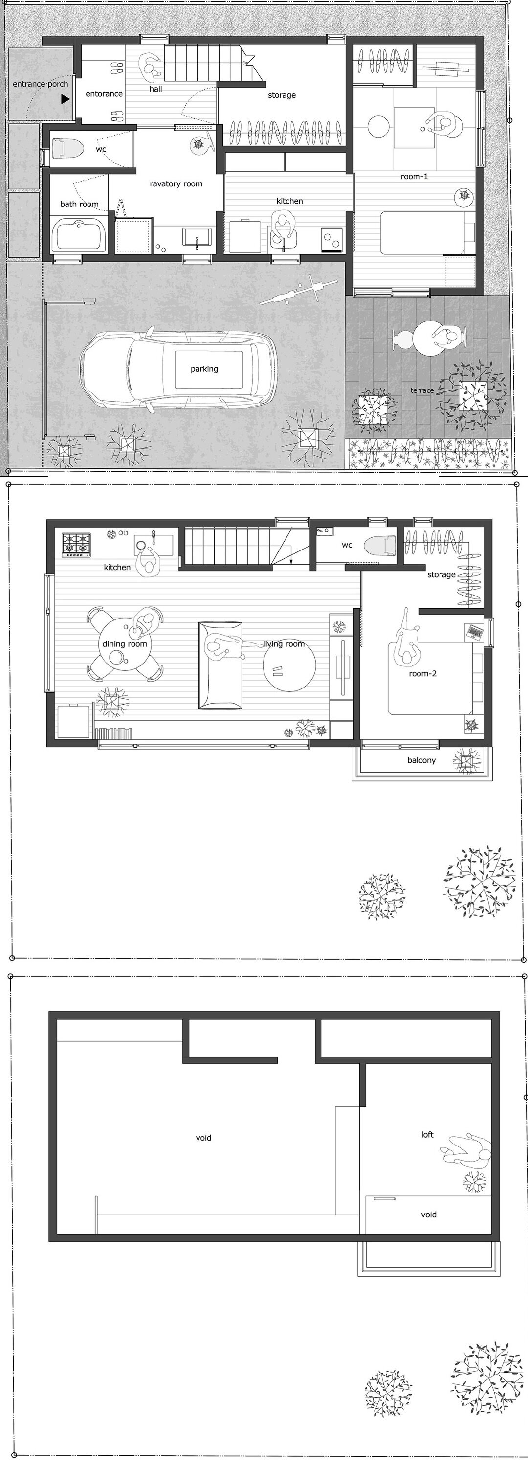 japanese house floor plans a small multi generational home in japan by kasa architects 3386