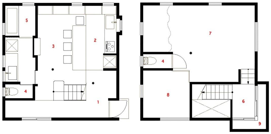 Kamo House - a.un architects - Gifu - Floor Plan - Humble Homes