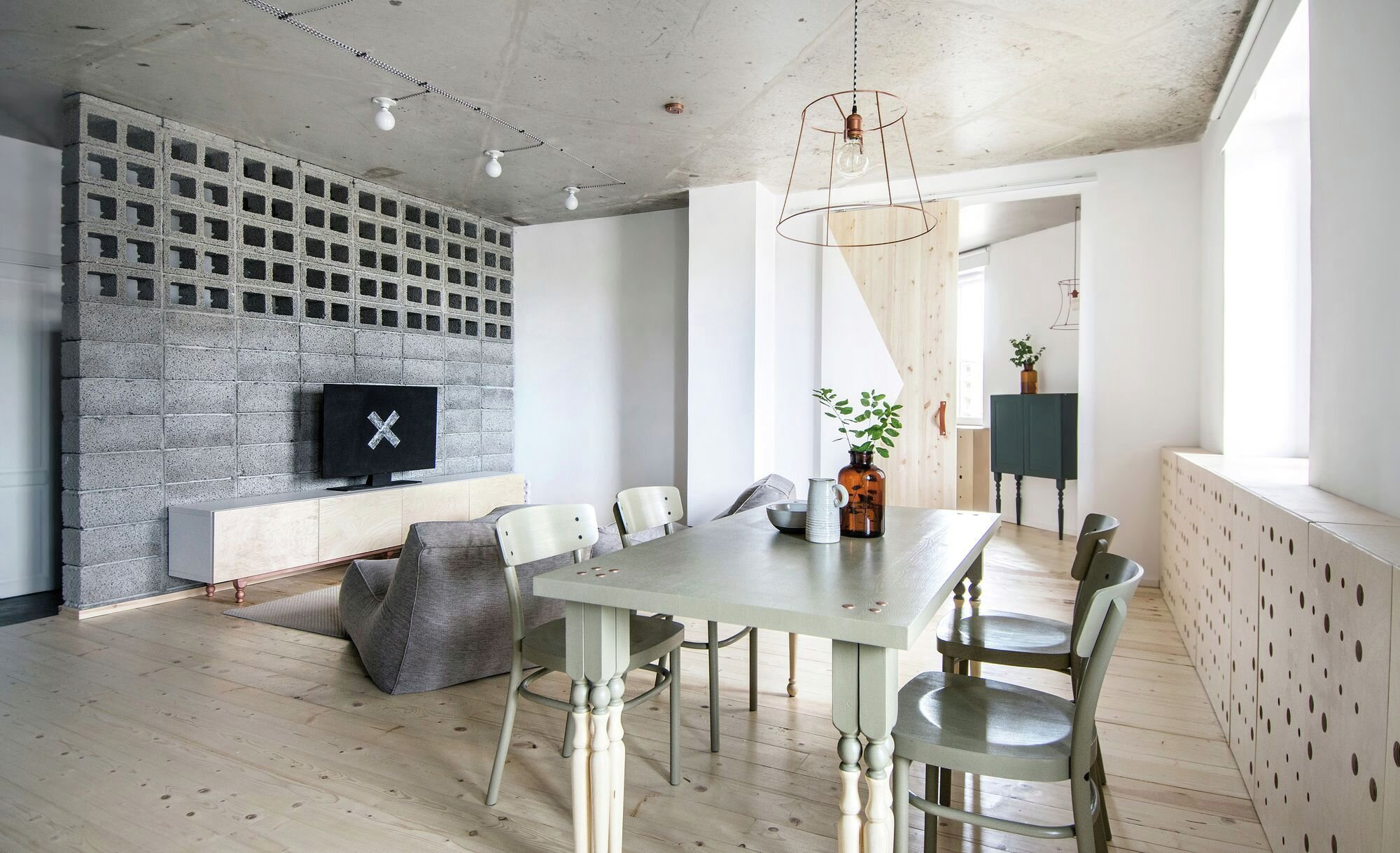 Small Apartment - Interior AK - INT2architecture - Russua - Living and Dining Areas - Humble Homes