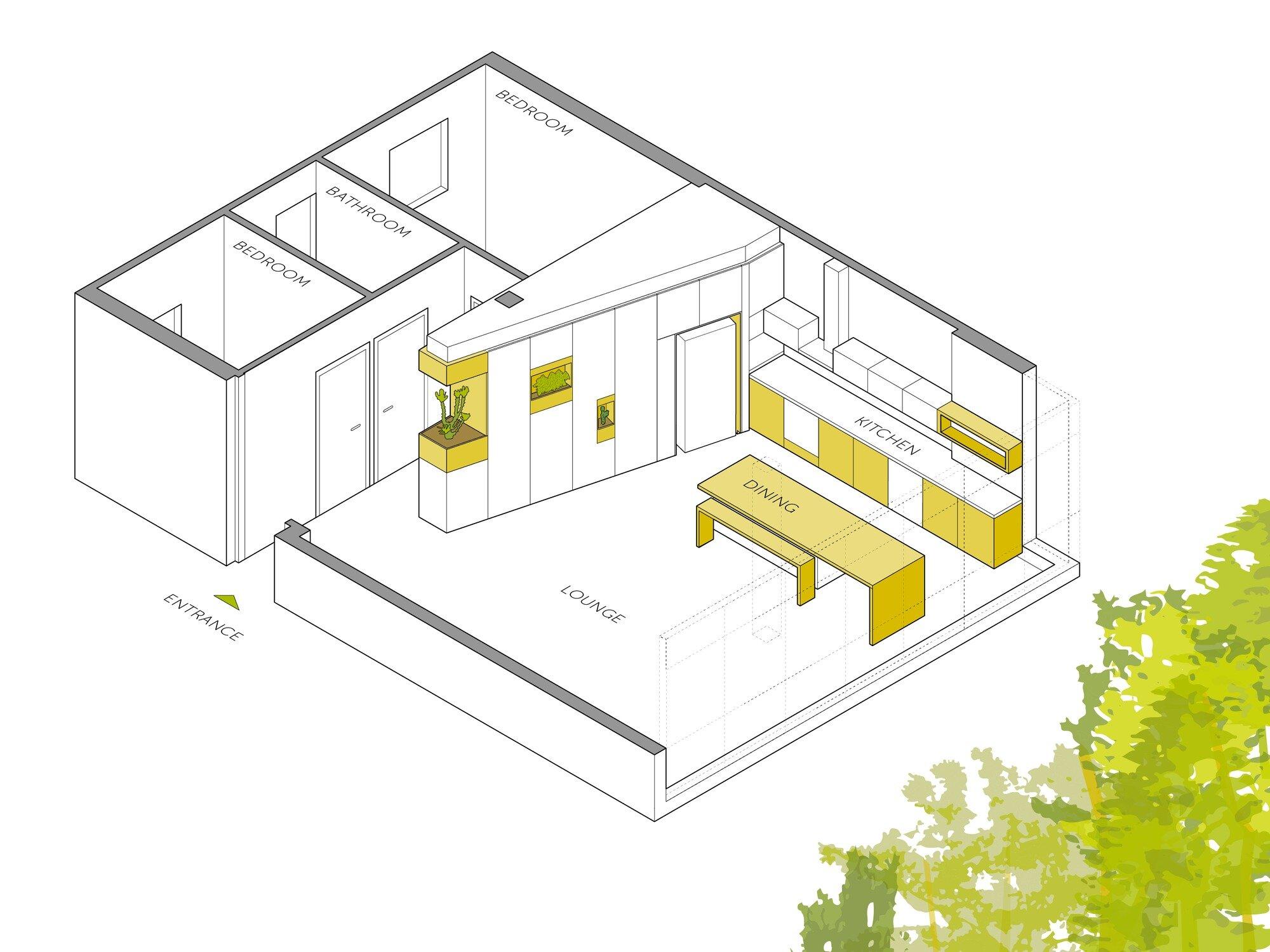Apartment in Ramat Gan - Itai Palti - Israel -Floor Plan - Humble Homes