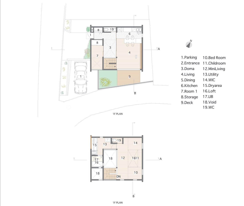 House in Ikoma - Arbol Design Studio - Japan - Floor Plans - Humble Homes