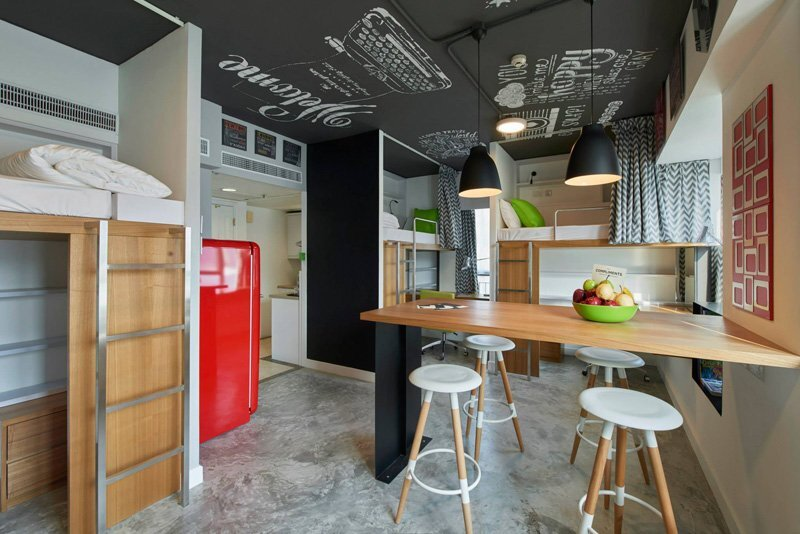 Student Apartment - LYCS Architecture - Hong Kong - Beds - Humble Homes