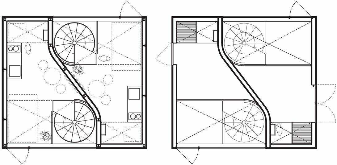 Townhouse in Takaban - Niji Architects - Tokyo - Floor Plan - Humble Homes