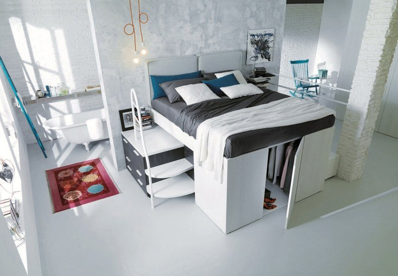Bed with Storage - Dielle - Italy - Door Open - Humble Homes