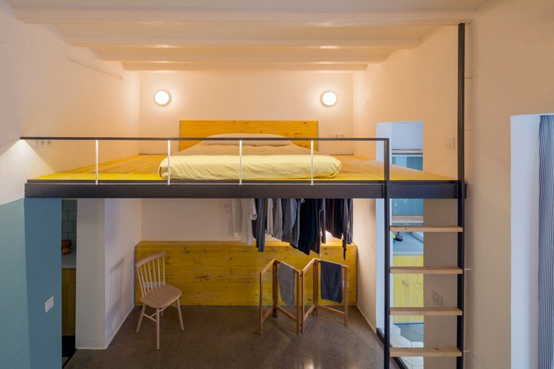 G-Roc Apartment - Nook Architects - Barcelona - Lofted Bed 2 - Humble Homes