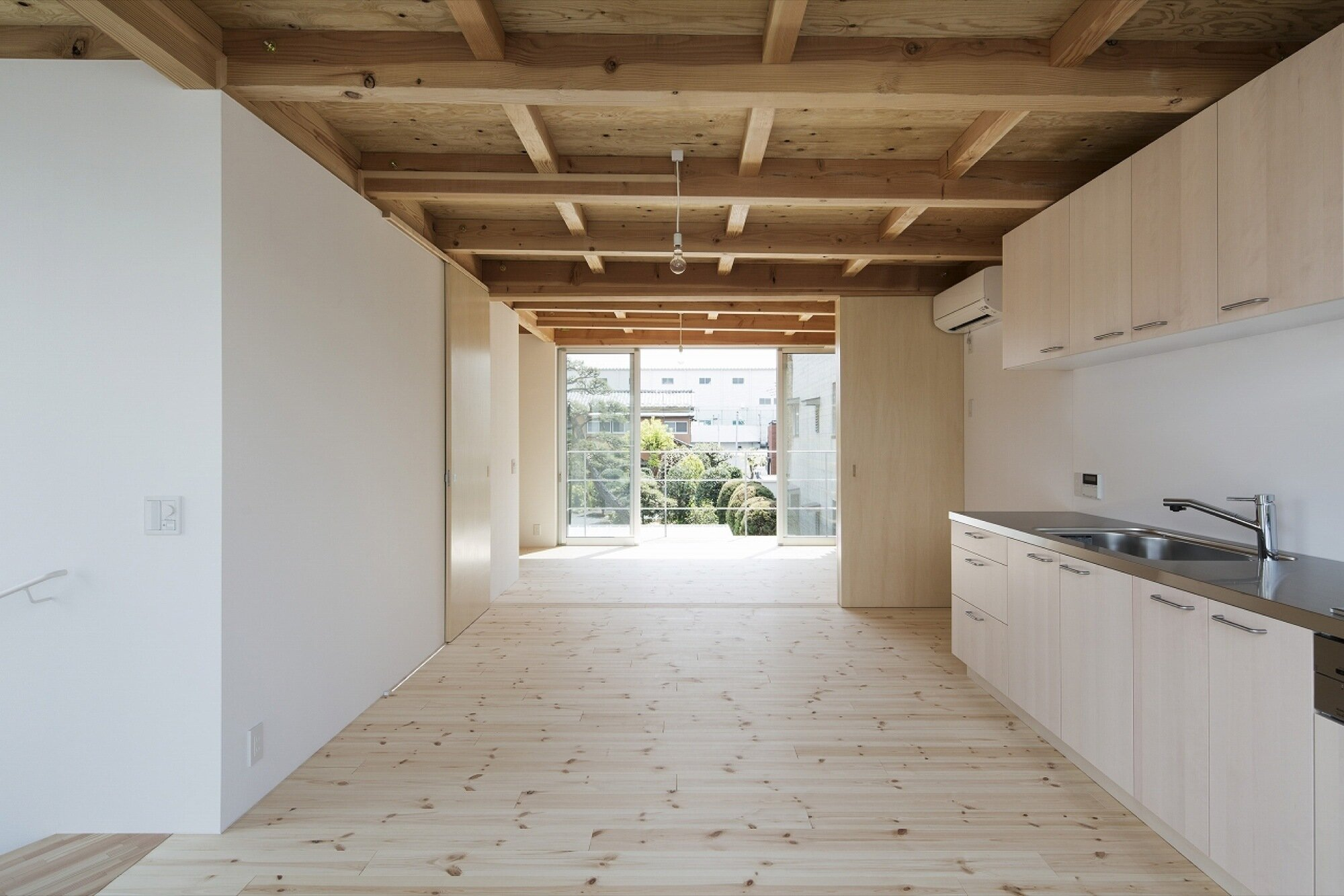 Wooden Box House - Suzuki Architects - Kawaguchi Japan - Kitchen and Living Room - Humble Homes