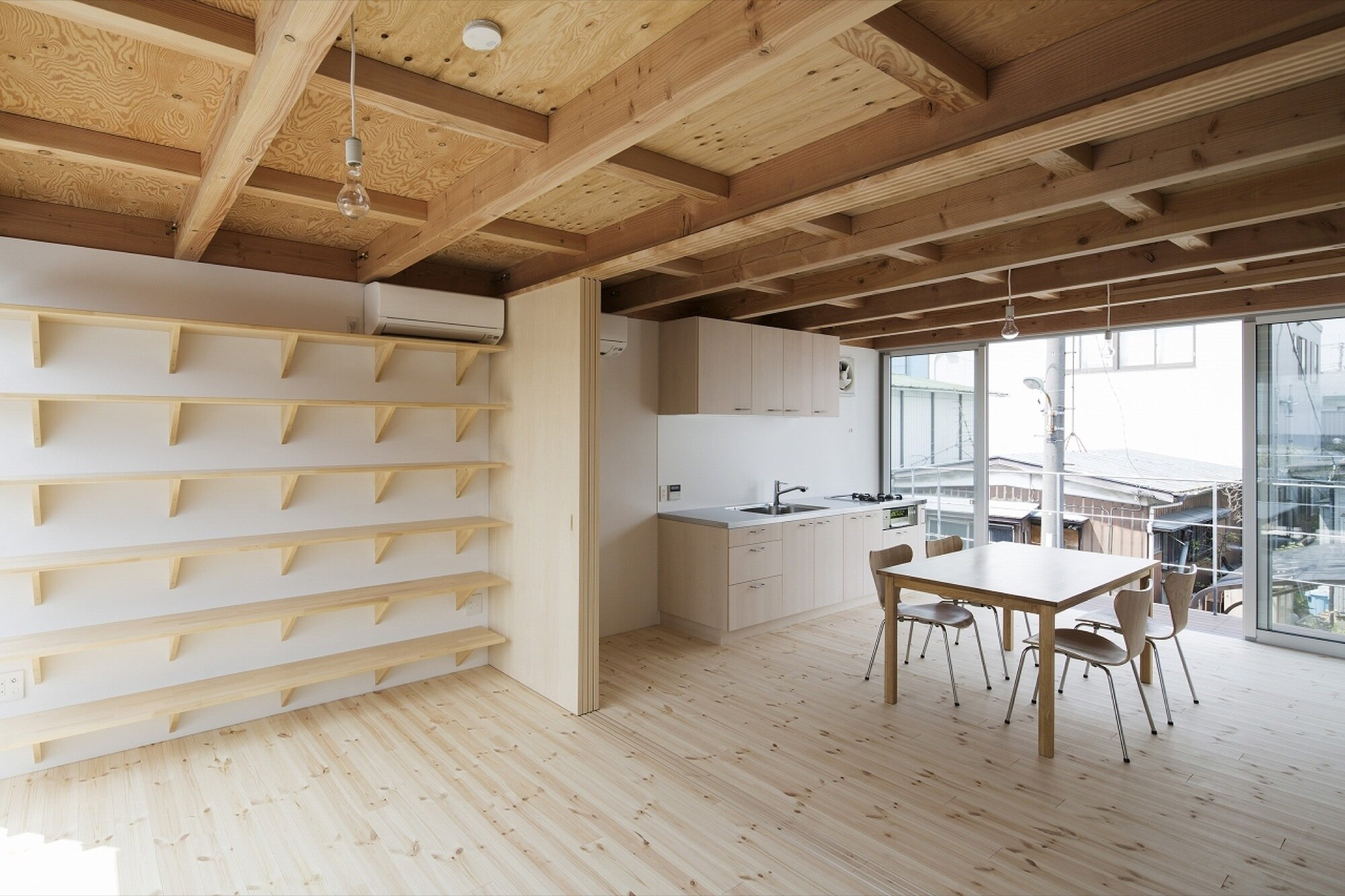 Wooden Box House - Suzuki Architects - Kawaguchi Japan - Living Room - Humble Homes
