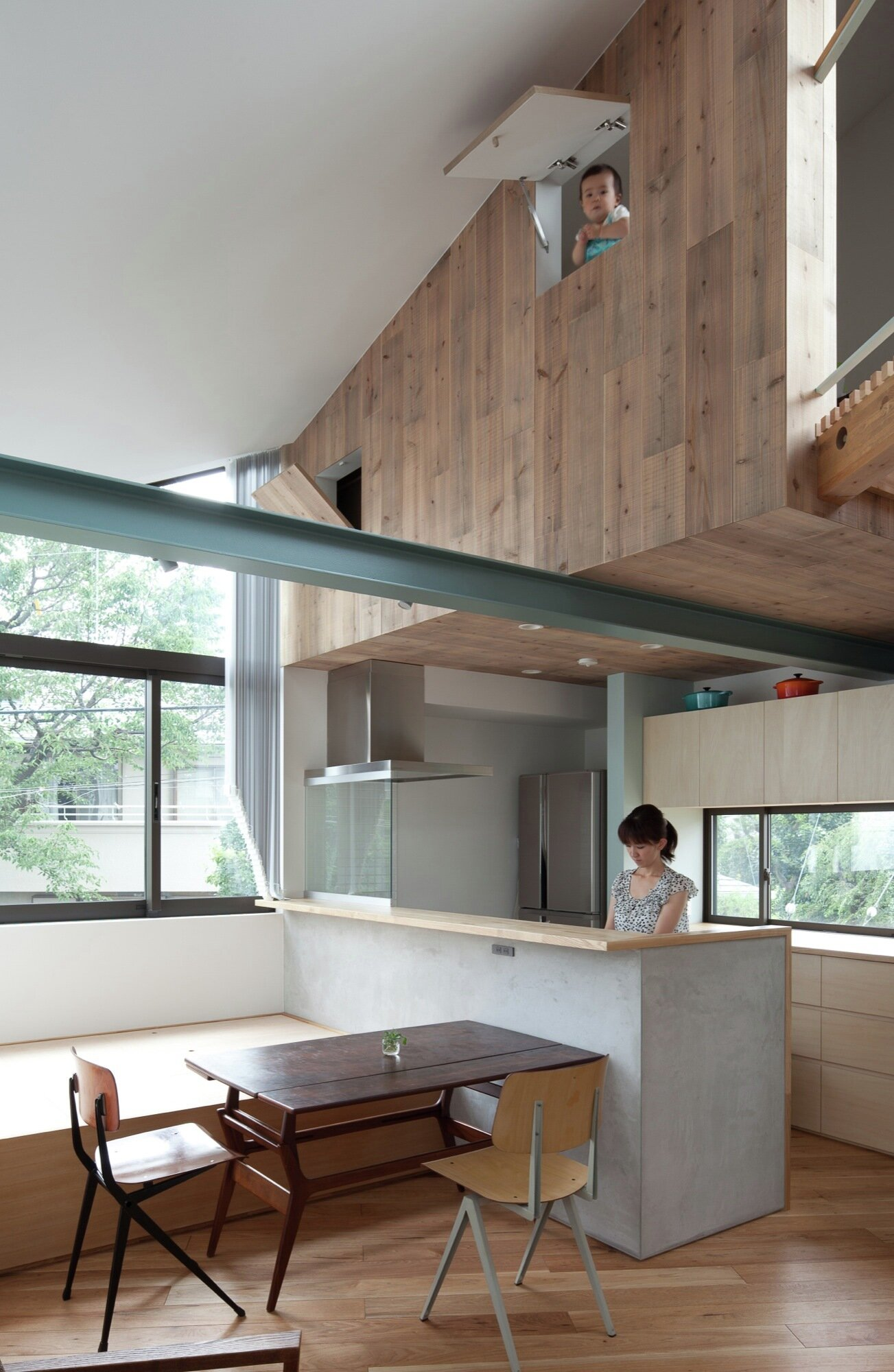Small House with Floating Treehouse - Yuki Miyamoto Architect - Tokyo - Kitchen - Humble Homes