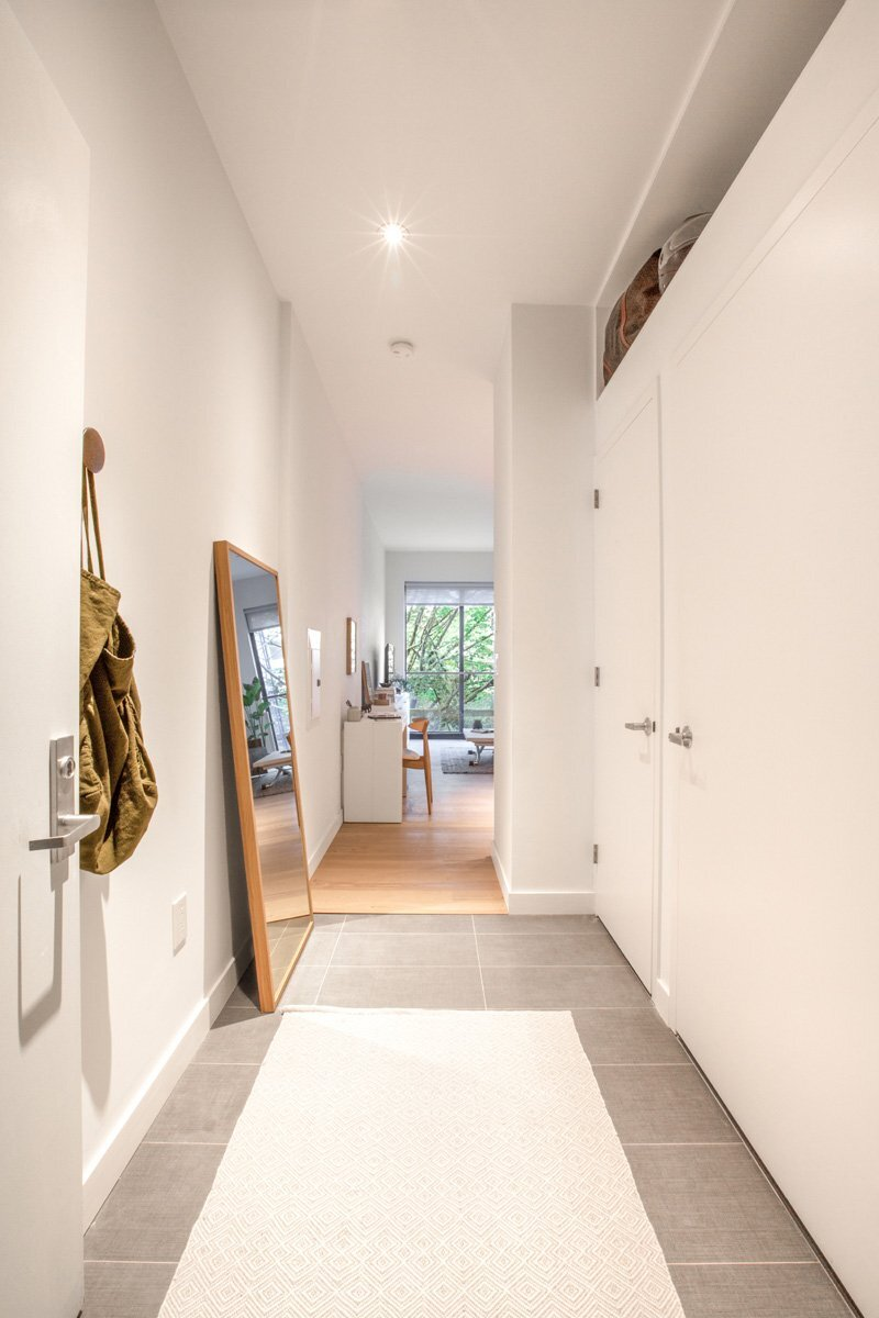 Ollie at Carmel Place - Micro Apartment - Stage 3 Properties - New York - Entrance - Humble Homes