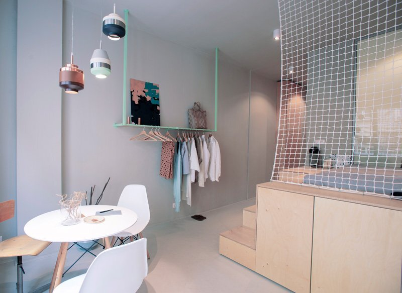 Tiny Apartment - POSITION Collective - Budapest - Exposed Closet - Humble Homes