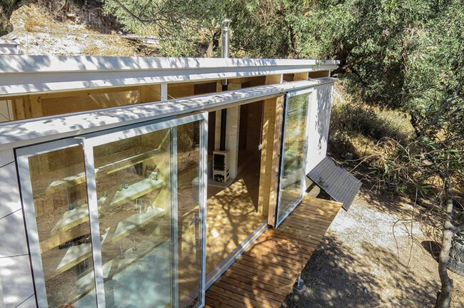 Tiny House on Wheels - Echo Livin - Greece - Front Decking - Humble Homes
