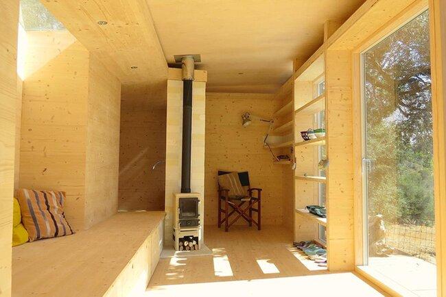 Tiny House on Wheels - Echo Livin - Greece - Living Room - Humble Homes