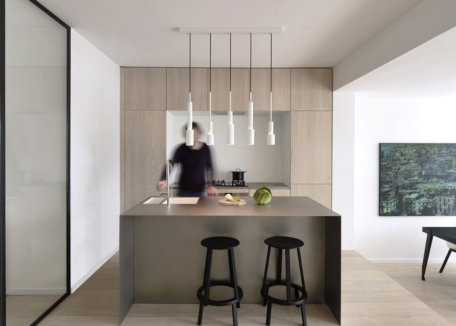 A Sleek Minimalist Apartment in Amsterdam by Frederik Roijé on kitchen ceiling treatment ideas, kitchen shabby chic, kitchen electrical ideas, rustic kitchen ideas, kitchen modern ideas, kitchen color ideas, kitchen decorating, kitchen decorations, kitchen storage ideas, kitchen design, kitchen backsplash ideas, kitchen themes, kitchen sewing ideas, kitchen accessories, kitchen wood ideas, kitchen cabinets ideas, kitchen rugs ideas, kitchen flower arrangement ideas, kitchen fall ideas, kitchen remodeling ideas,