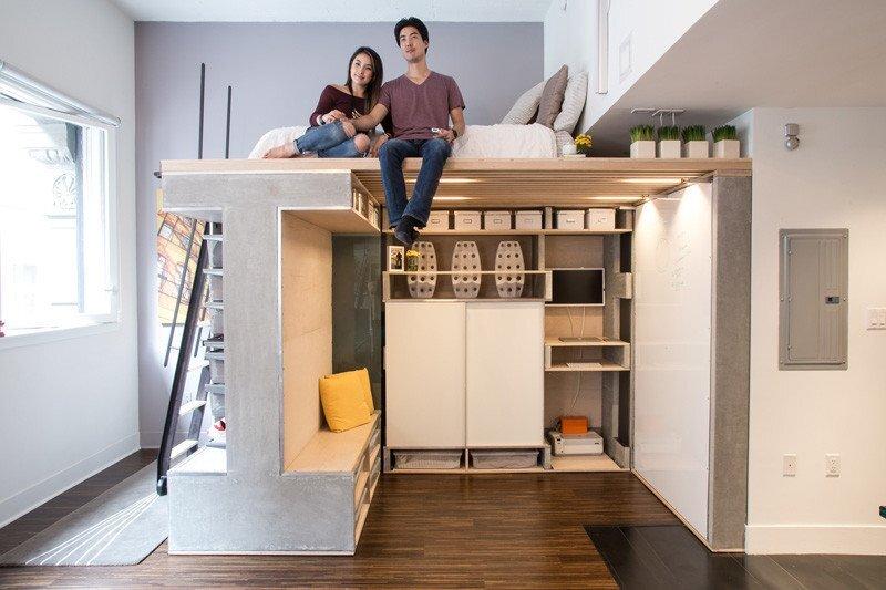 Domino Loft - ICOSA and Peter Suen - San Francisco - Sitting Loft - Humble Homes