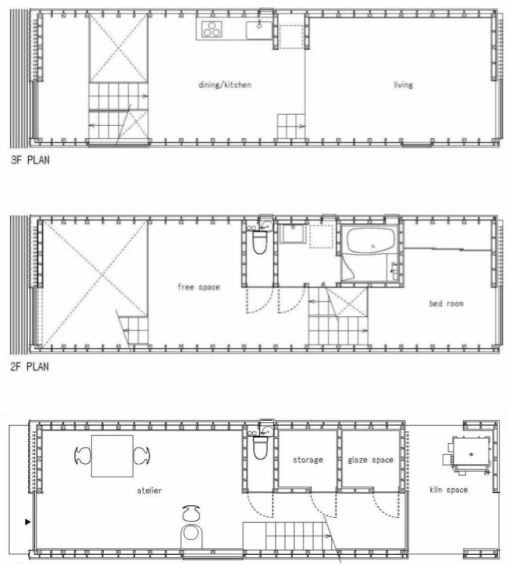 House for Pottery Festival - Office for Environment Architecture - Japan - Floor Plan - Humble Homes
