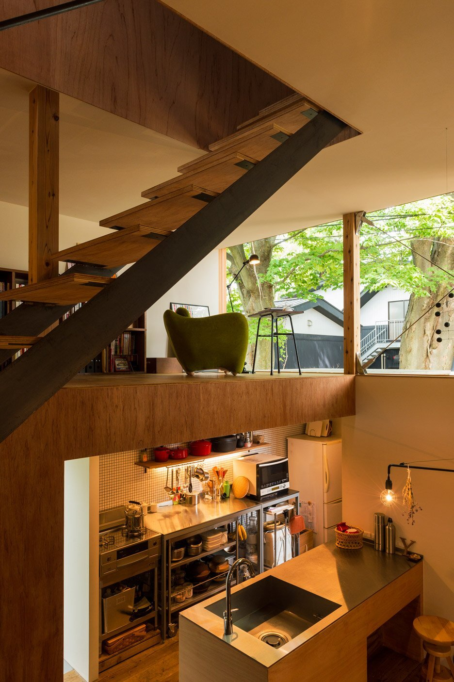 House to Catch a Tree - Takeru Shoji Architects - Japan - Kitchen - Humble Homes