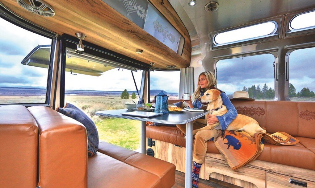 Pendleton Airstream - National Park Foundation - Pendleton Woolen Mills - Dining Area - Humble Homes.jpg
