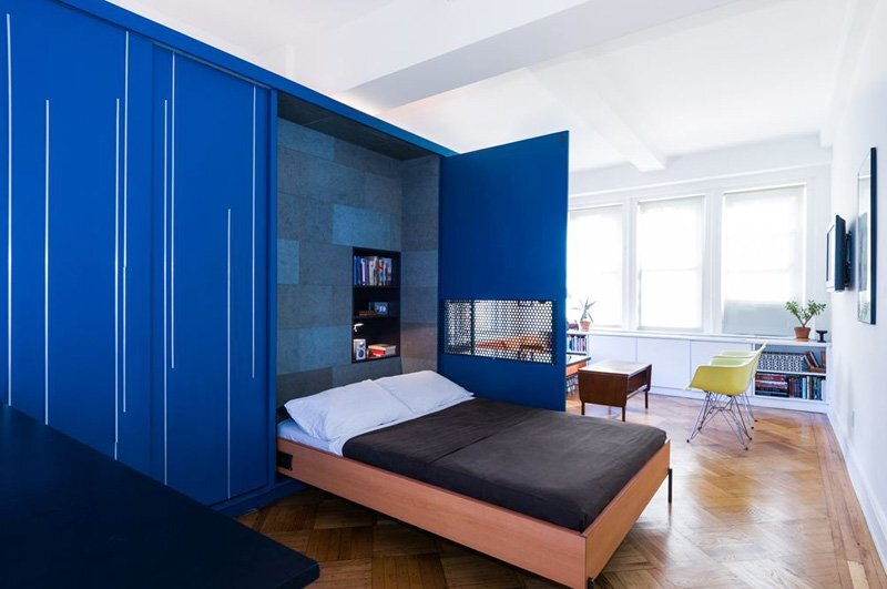 Unfolding Apartment - Michael K Chen Architecture - New York - Murphy Bed - Humble Homes