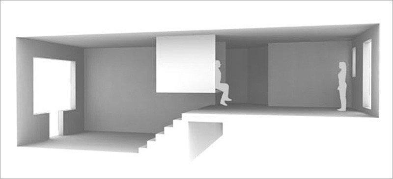 Valentin Apartment - ECDM - Paris - Cross Section - Humble Homes
