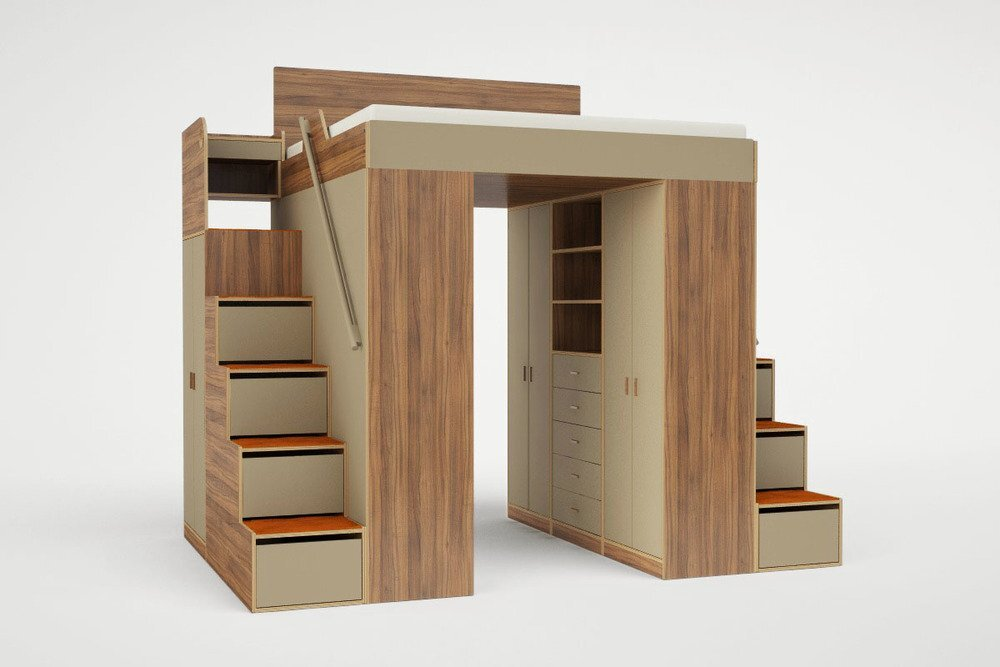 Lofted Beds - Casa Kids - Urbano - Bed with Storage 2 - Humble Homes