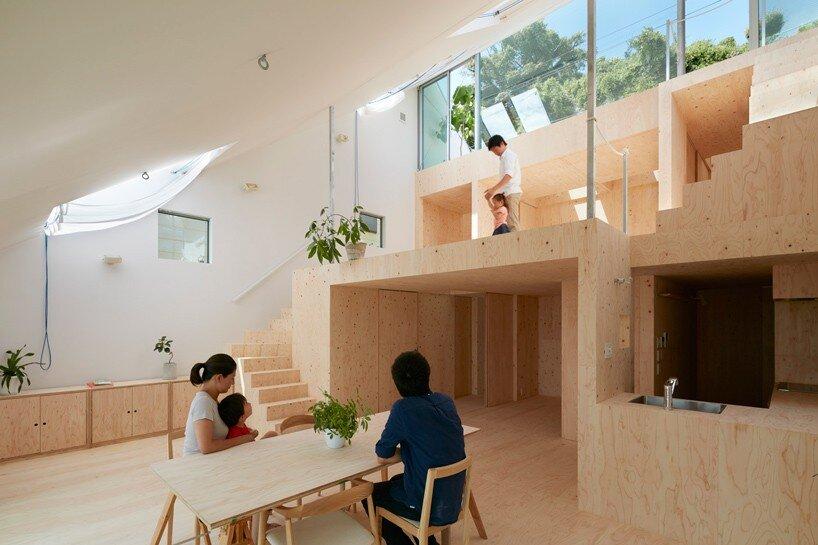 Reslope House - Tomohiro Hata - Kobe - Living Area - Humble Homes
