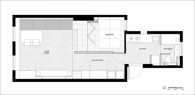Small Apartment - More Design Office - Shanghai - Floor Plan - Humble Homes