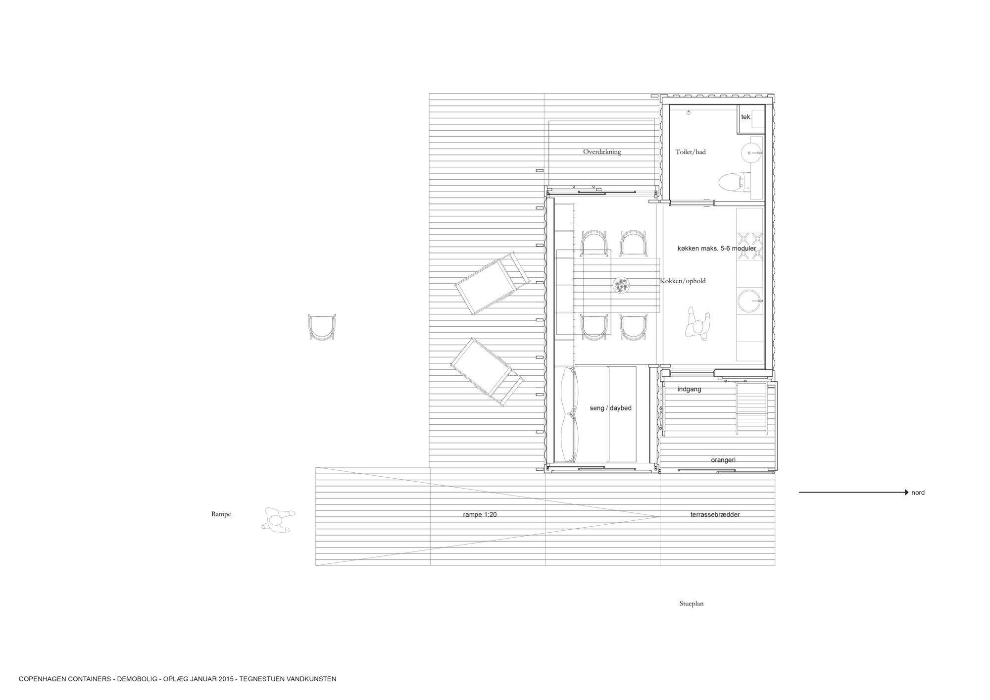 Student Container Housing - CPH Containers - Vandkunsten Architects - Copenhagen - Floor Plan - Humble Homes