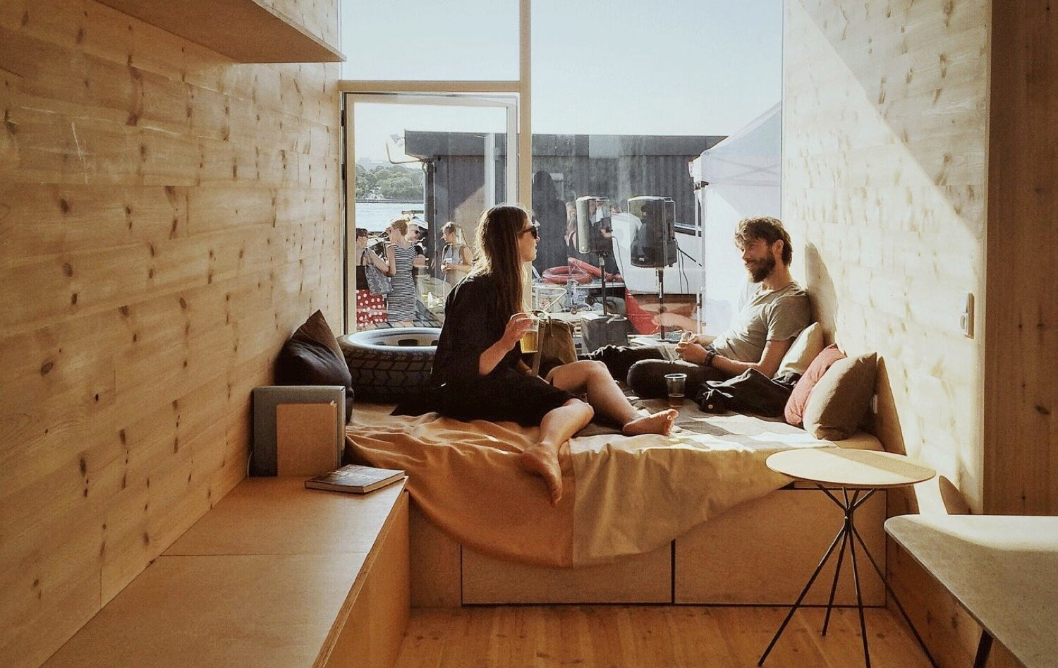 Student Container Housing - CPH Containers - Vandkunsten Architects - Copenhagen - Seating - Humble Homes