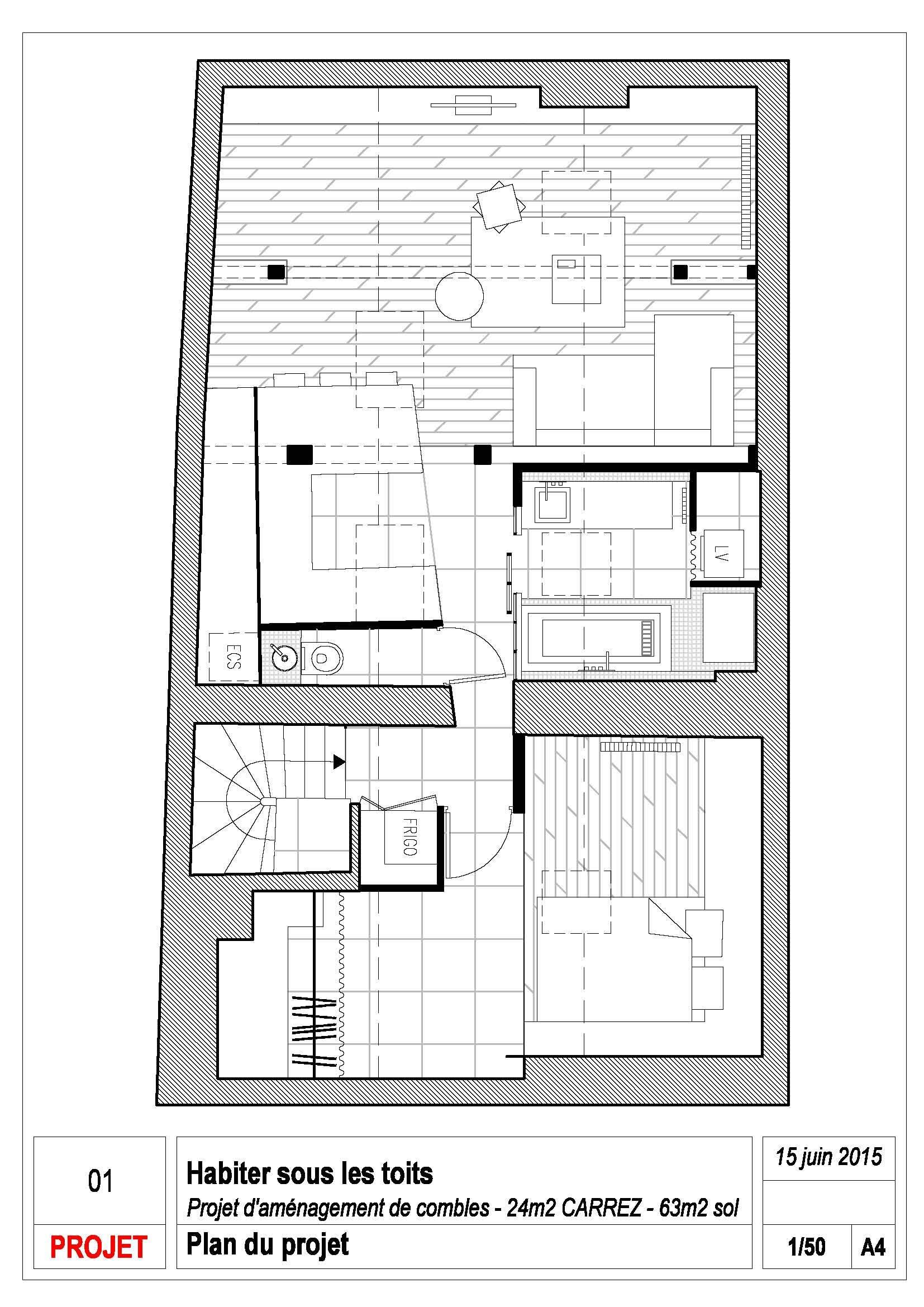 Living Under the Roof - Prisca Pellerin - France - Floor Plan - Humble Homes