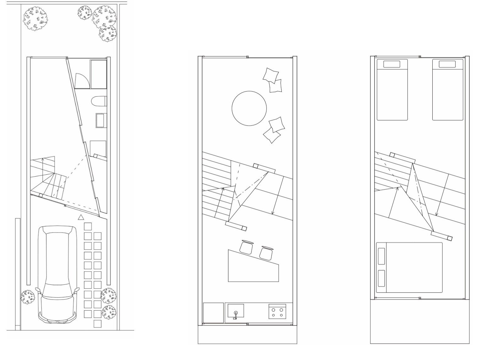 New Kyoto Town House - Alphaville - Japan - Floor Plans - Humble Homes