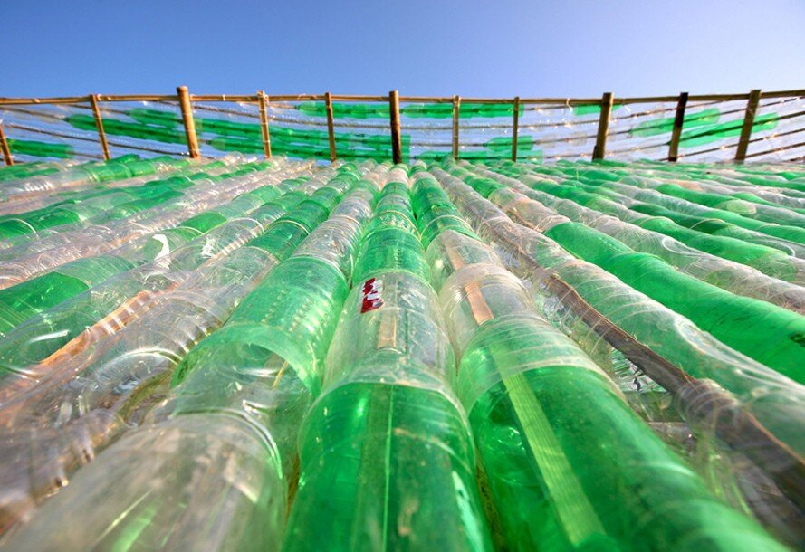 Bottle Seedling House - International Architecture JSC - Vietnam - Wall of Bottles - Humble Homes