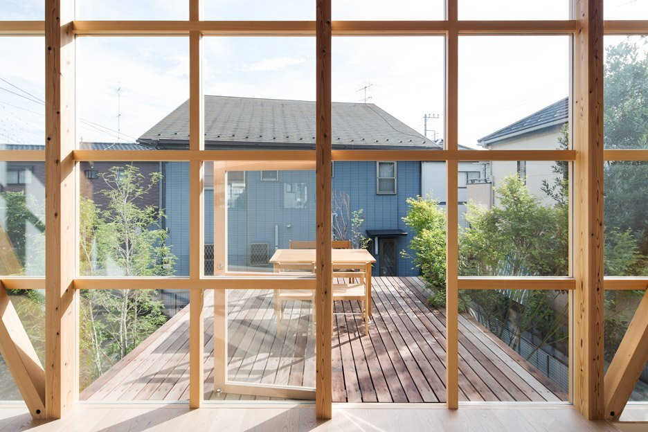 Module Grid House - Tetsuo Yamaji Architects - Kanto Japan - Terrace - Humble Homes
