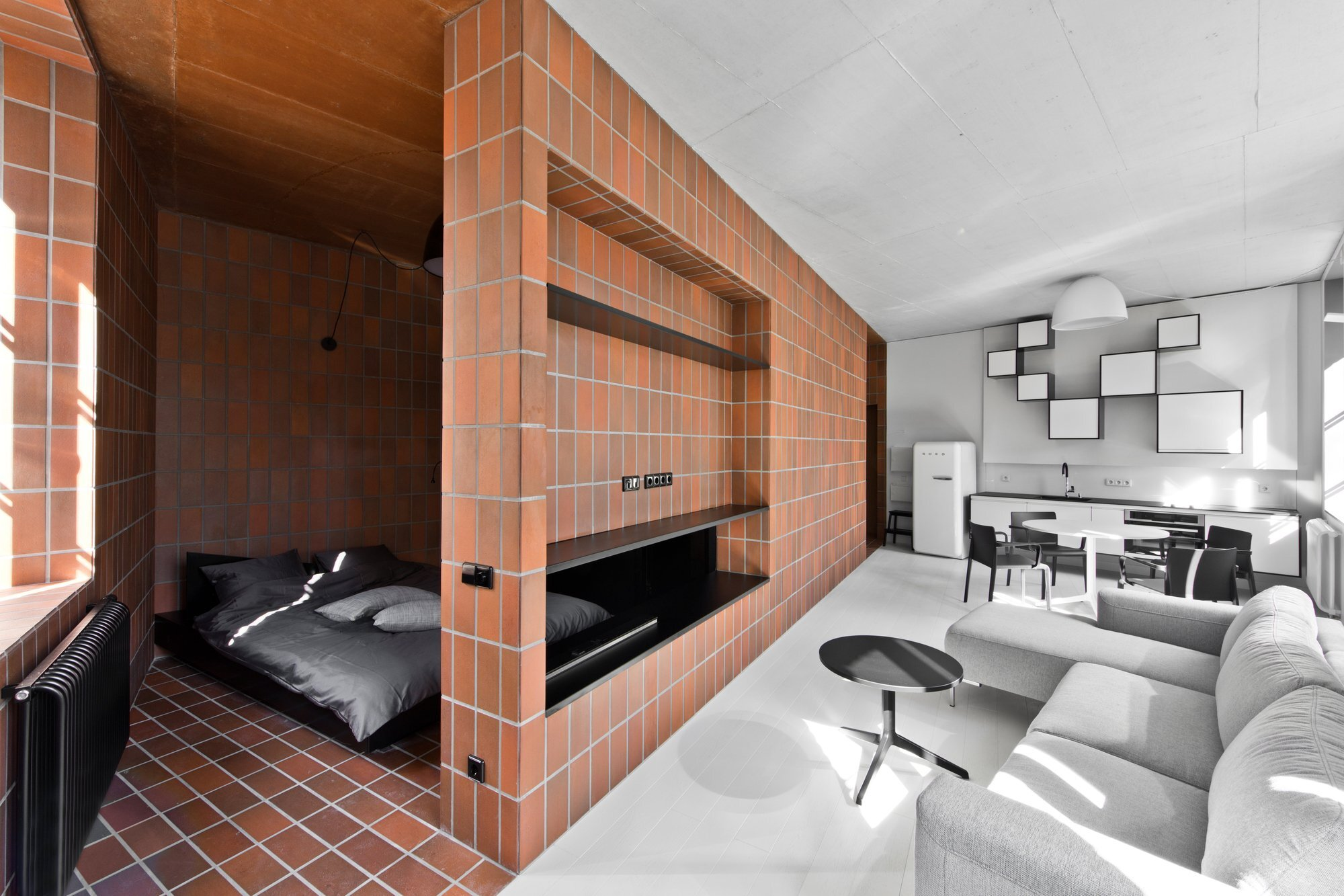 Bazillion - YCL Studio - Lithuania - Bedroom and Living Room - Humble Homes
