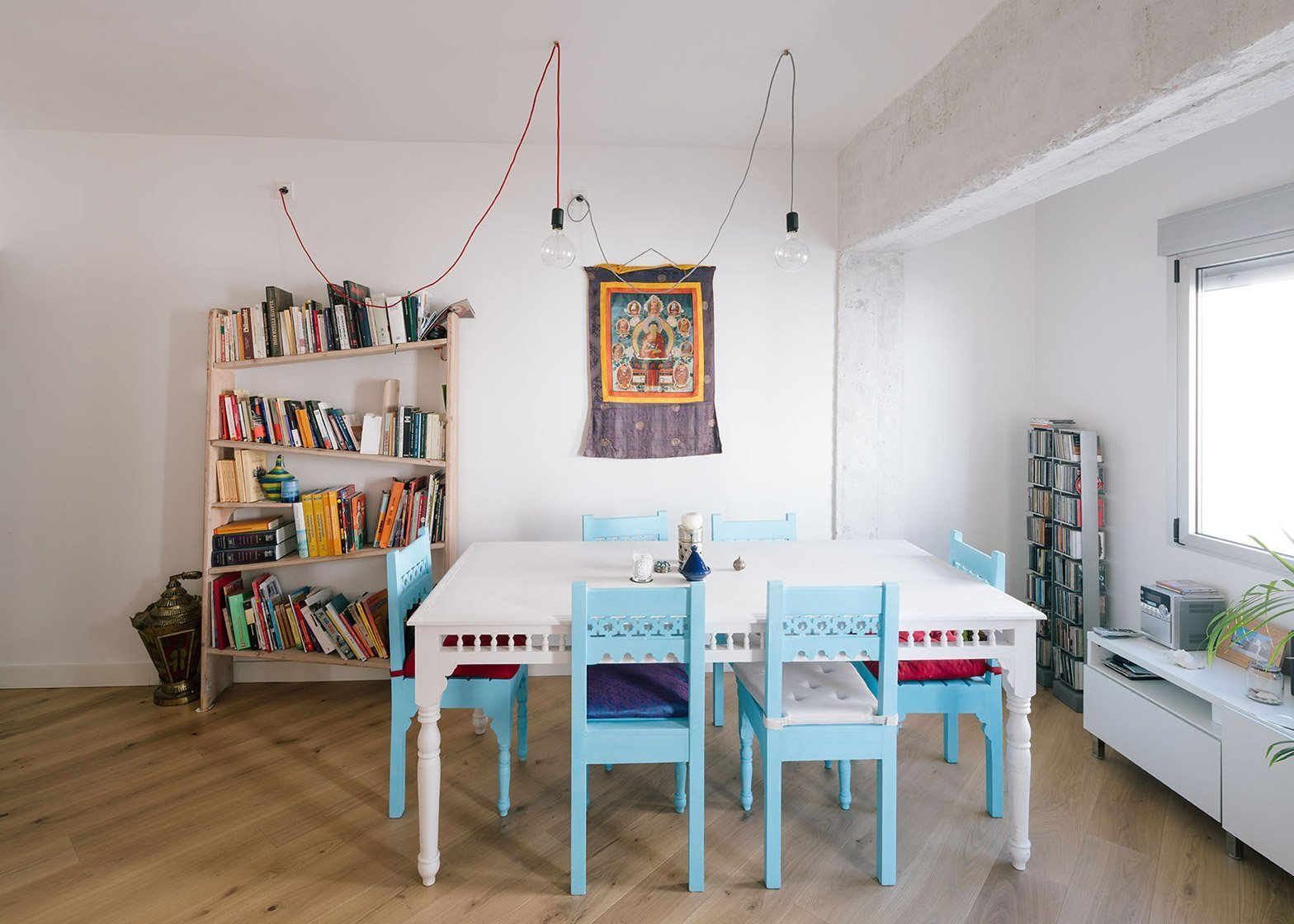 Casa MD - Small Apartment - PYO Arquitectos - Madrid - Dining Table - Humble Homes
