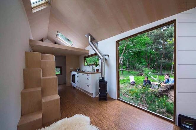 Marjolein Jonker S Cool And Calming Contemporary Tiny House On Wheels