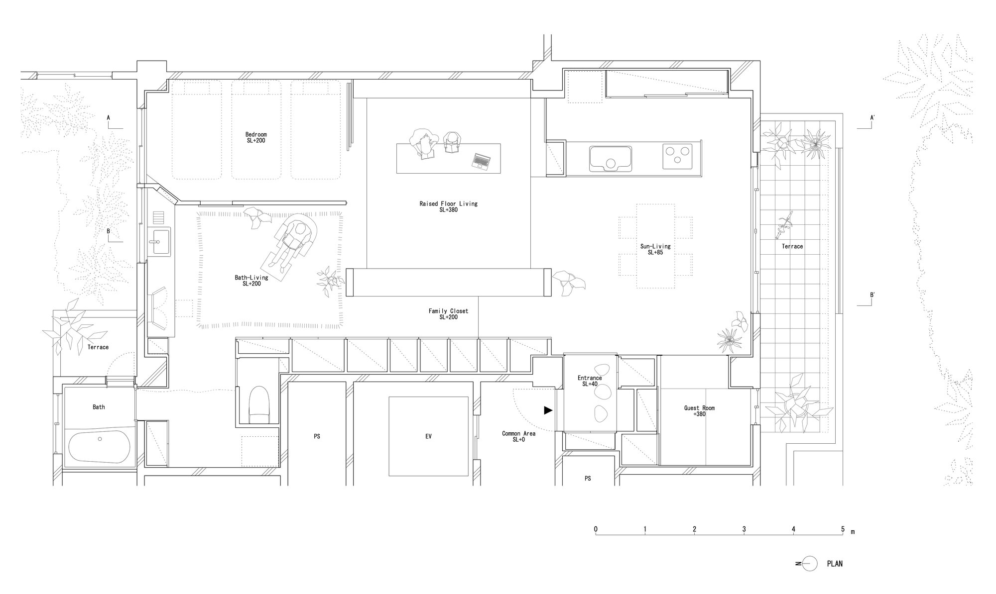 Team Living House - Masatoshi Hirai Architects Atelier - Tokyo - Floor Plan - Humble Homes