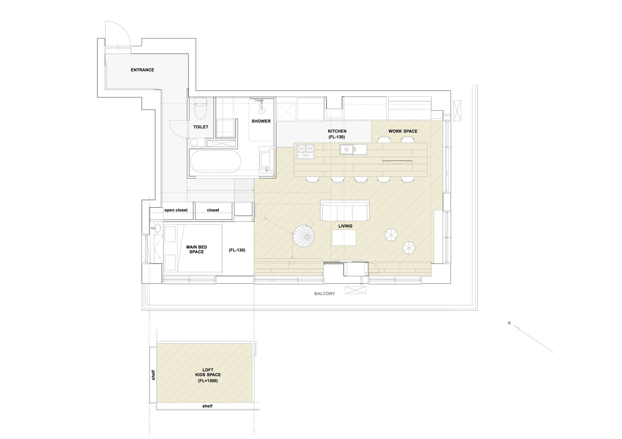 Tenhachi House - .8 Tenhachi Architect & Interior Design - Tokyo - Floor Plan - Humble Homes