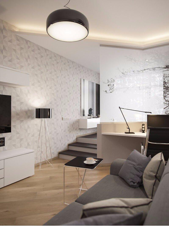Neutral Apartment - Igor Glushan - Russia - Living Area 2 - Humble Homes