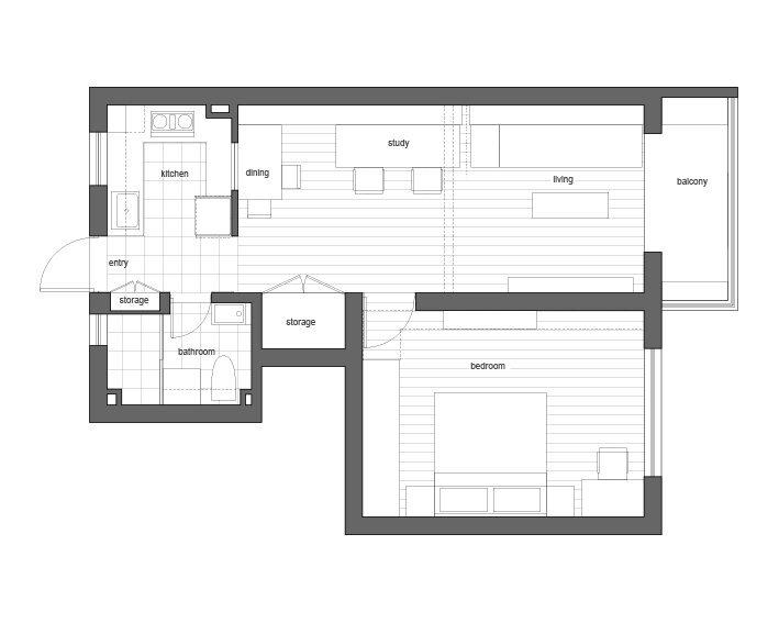 Traditional Chinese Home Design - Guo Donghai & Yan Linglin - Shanghai China - Floor Plan - Humble Homes