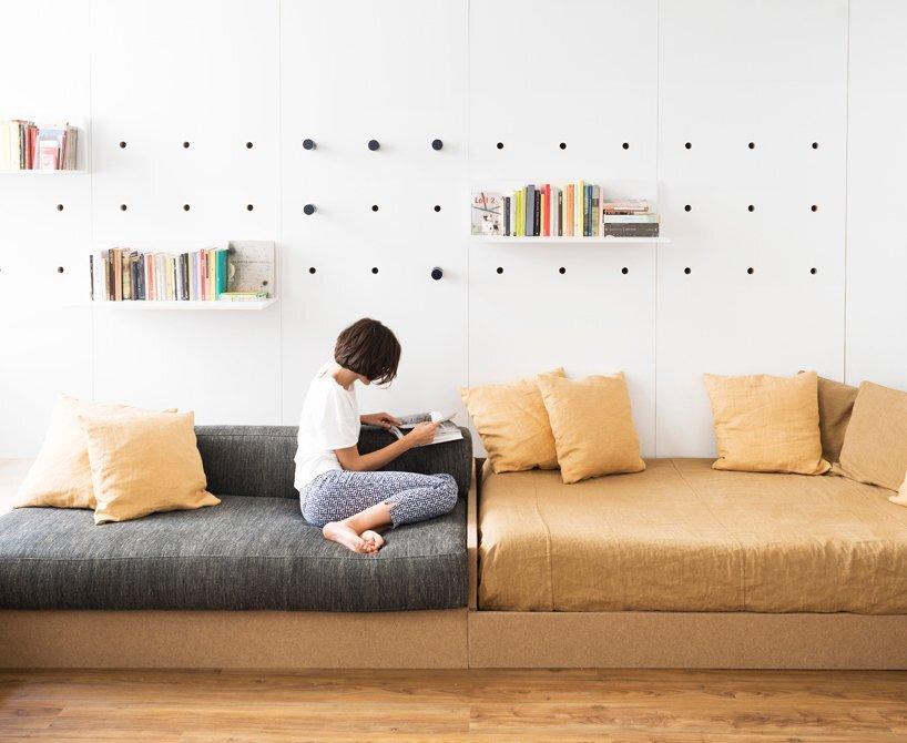 Compact Studio Design - Silvia Allori - Florence Italy - Living Room Sofa - Humble Homes