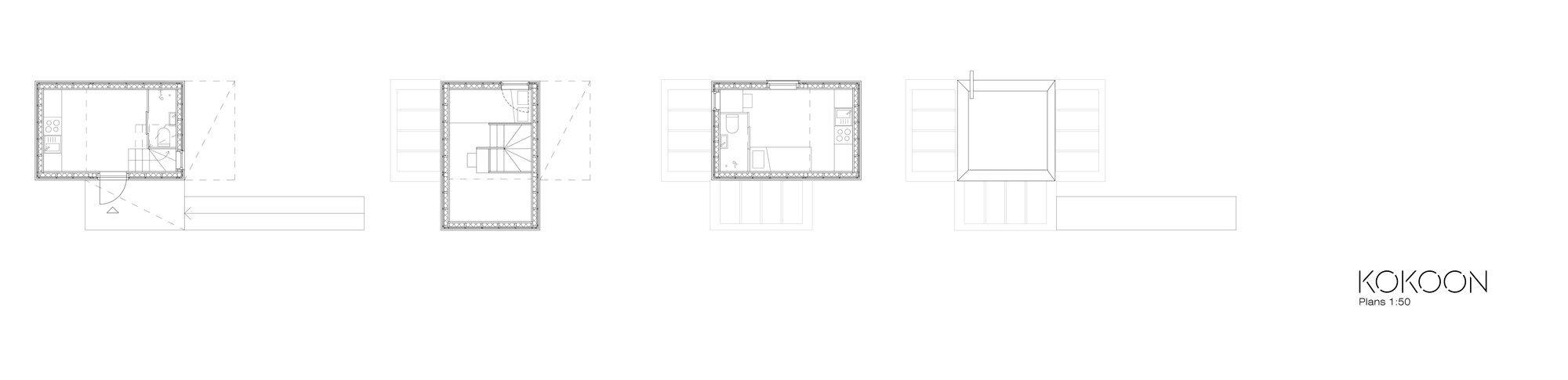 Kokoon - Aalto University Wood Program - Finland - Floor Plans - Humble Homes