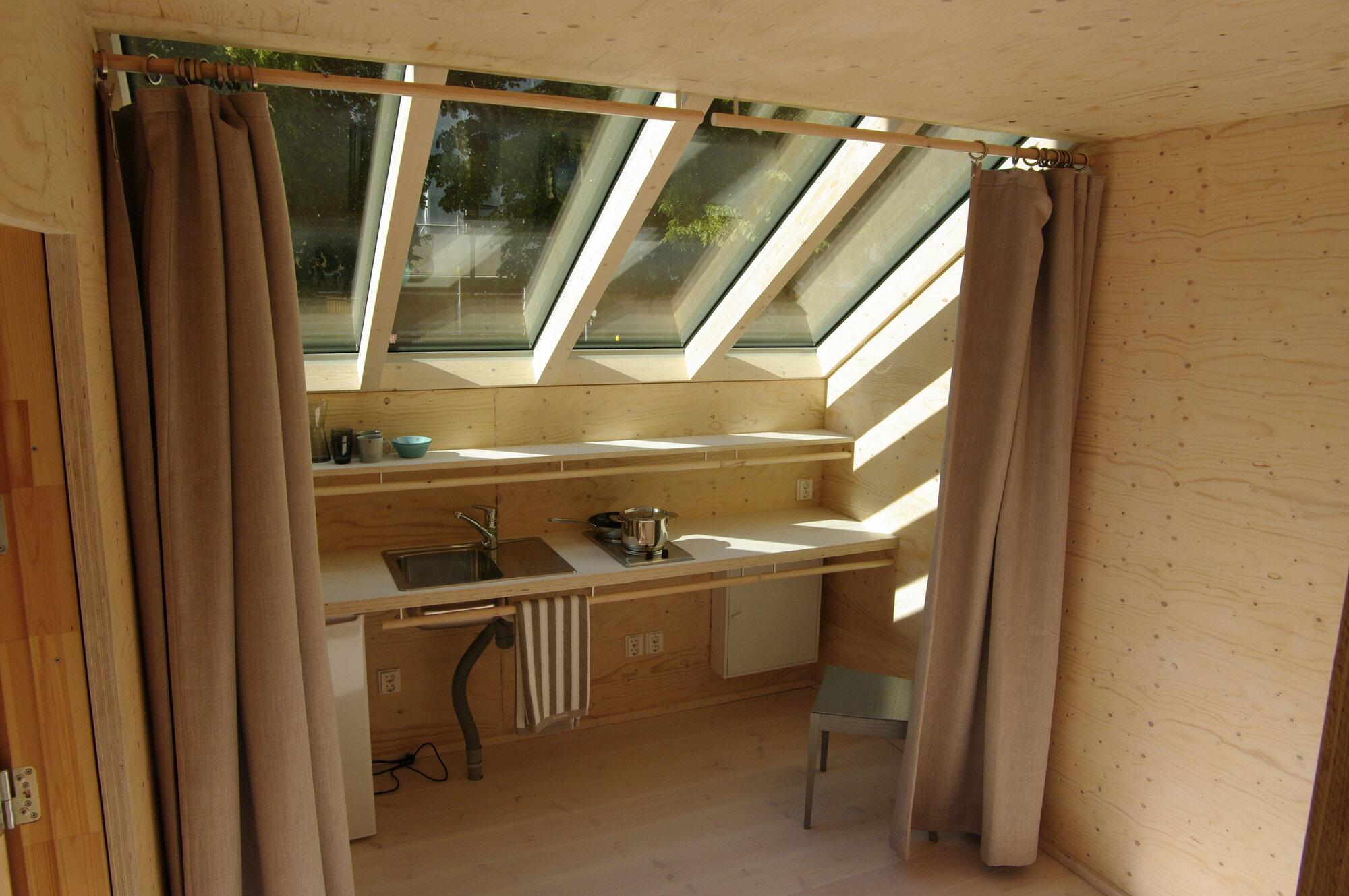 Kokoon - Aalto University Wood Program - Finland - Kitchen - Humble Homes