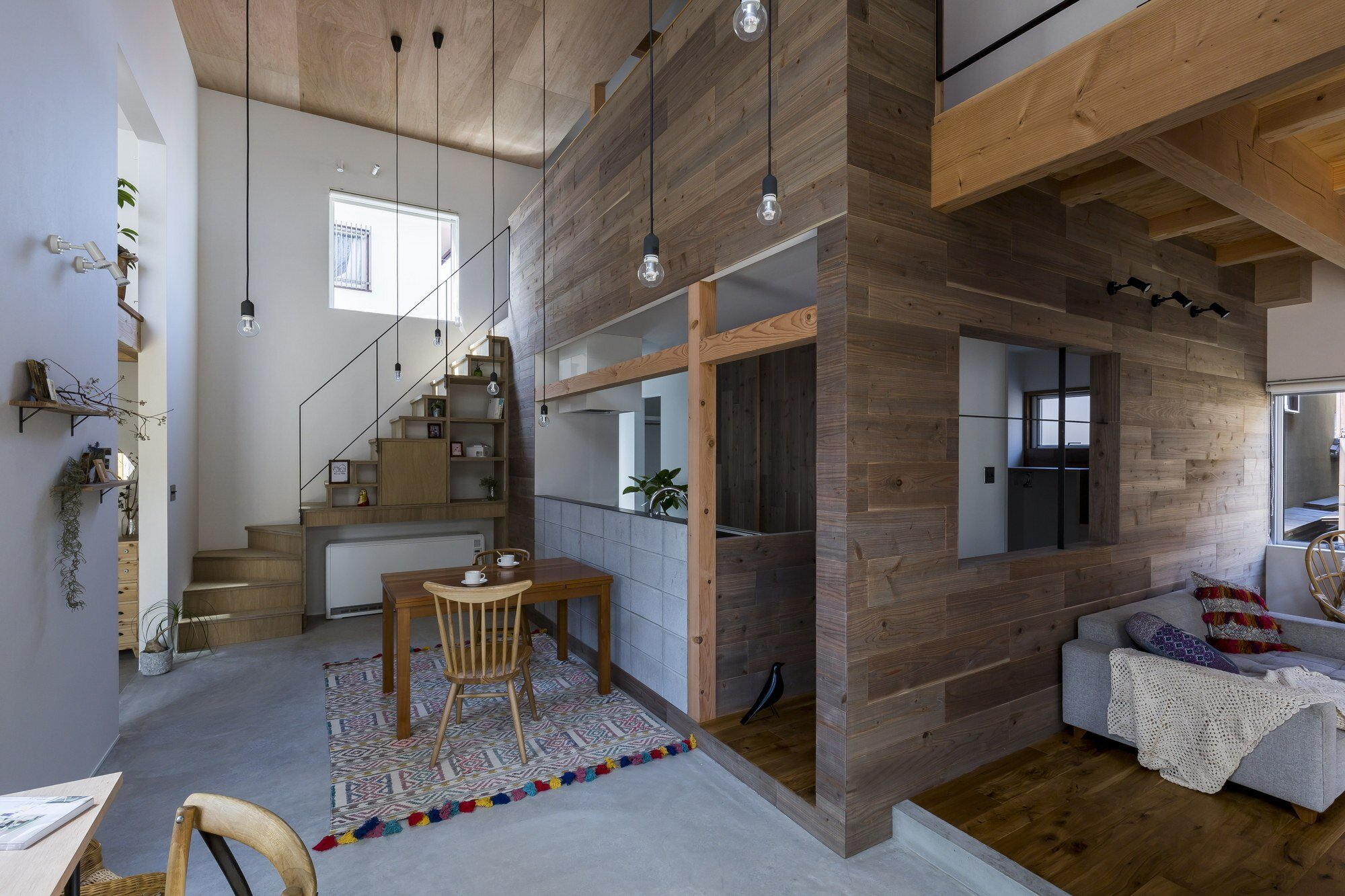 Uzi House - ALTS Design Office - Hironocho Kyoto - Dining and Living Room - Humble Homes