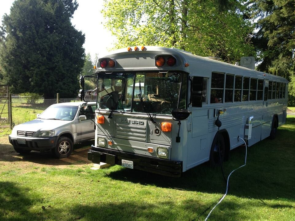 Big Bertha - School Bus Gets Converted to a Cozy Tiny Home for a