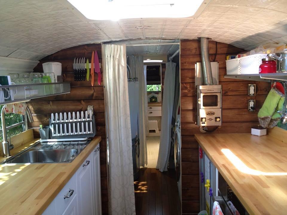 Big Bertha - School Bus Gets Converted to a Cozy Tiny Home