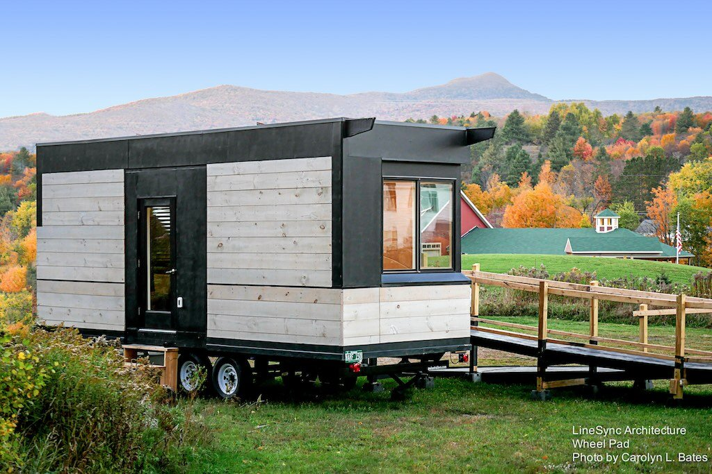Wheel Pad Tiny House - LineSync Archtecture - Vermont - Exterior - Humble Homes
