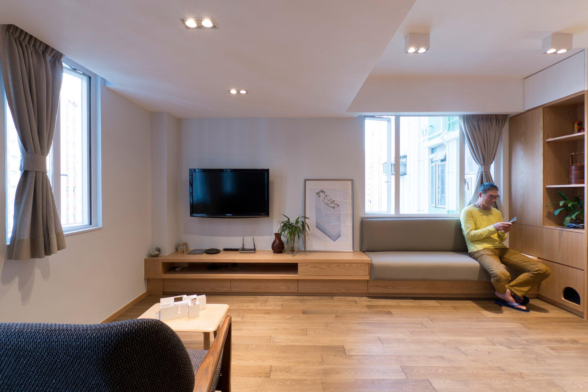 Flat 27A - Design Eight Five Two - Hong Kong - TV and Sofa - Humble Homes