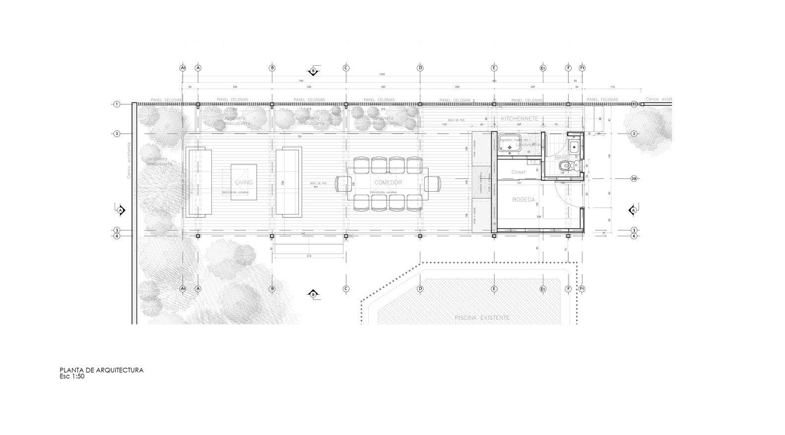 Pergola Pavilion - PAR Arquitectos - Chile - Floor Plan - Humble Homes