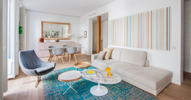 Small Contemporary Apartment - Lucas y Hernández-Gil - Madrid Spain - Living Area - Humble Homes