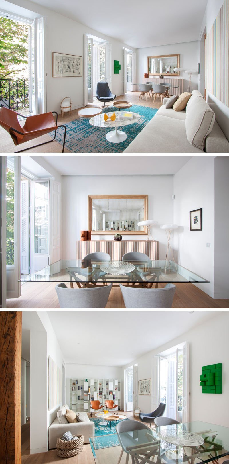 Small Contemporary Apartment - Lucas y Hernández-Gil - Madrid Spain - Living Room Dining Room - Humble Homes